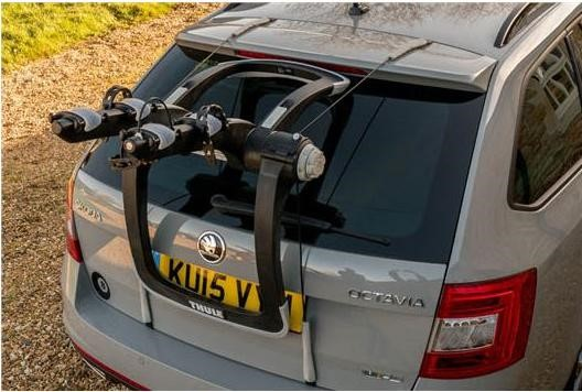 Thule Raceway - a rear mounted bike carrier that sits on your car boot