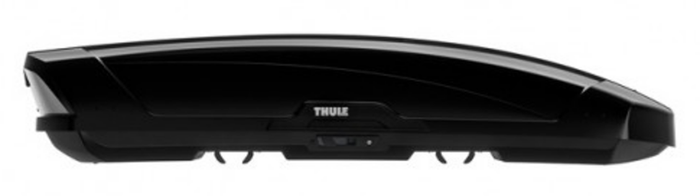 The larger design of the Thule Motion 900 roof box in black
