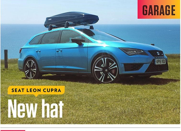 The Thule Touring Sport Roofbox on a Seat Leon
