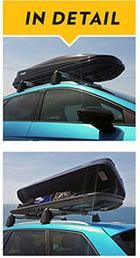 The Thule Touring roofbox shown here open with good capacity