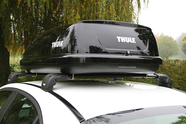Rear view of the popular Thule 80 roof holder