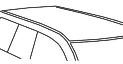 Car with no roof rack fixing points