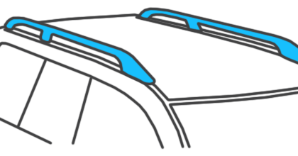 Car with Raised Roof Rails
